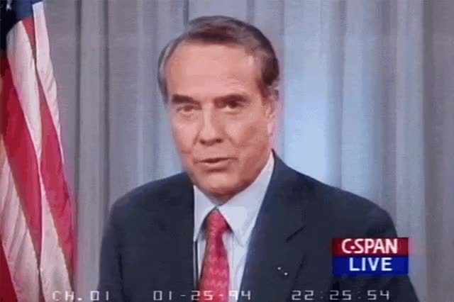 Watch and share State Of The Union Republican Rebuttal Responsebob Dole GIFs on Gfycat