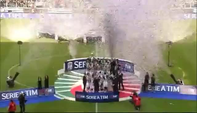 Watch and share Juventus Campione D'italia 2014 (La Premiazione Allo Juventus Stadium) GIFs on Gfycat
