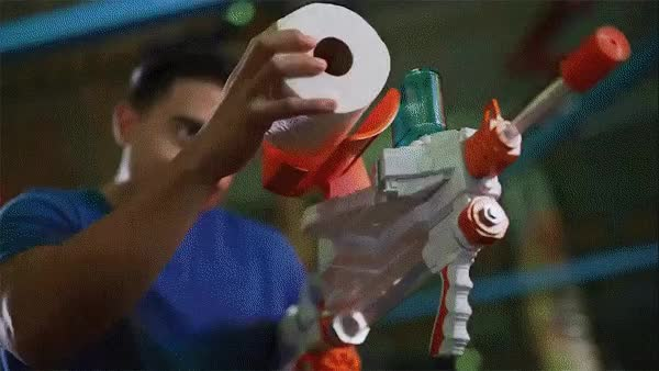 Watch Sheet Storm Toilet Paper Gun by Jakks Pacific GIF by @technabob on Gfycat. Discover more toys GIFs on Gfycat
