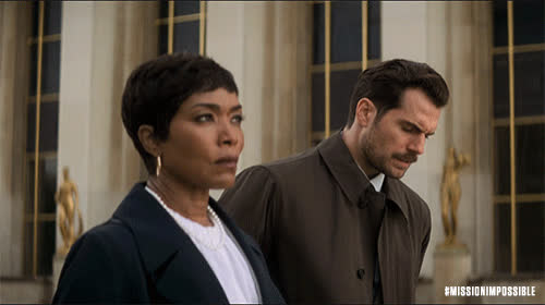 MissionImpossible360, action, angela bassett, blockbuster, epic, henry cavill, m.i., mission: impossible, missionimpossible, movies, paramount pictures, Henry Joining Angela GIFs