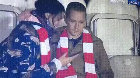 He took his girlfriend to the game