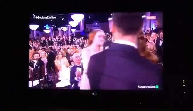 Watch and share Emma Stone Golden Globe! GIFs on Gfycat