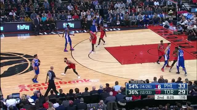 Watch and share Philadelphia 76ers GIFs and Toronto Raptors GIFs by louiszatzman on Gfycat