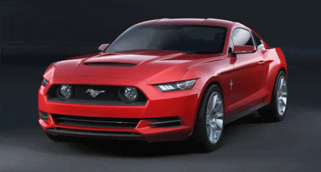 Watch and share Concept To Reality: 2015 Ford Mustang Sketches That Led To Gorgeous New Ponycar GIFs on Gfycat