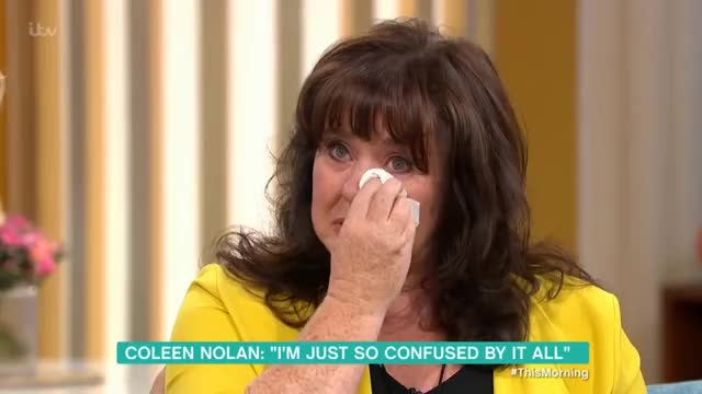 Watch Coleen Nolan Breaks Down in Tears Discussing Kim Woodburn | This Morning GIF on Gfycat. Discover more interview GIFs on Gfycat