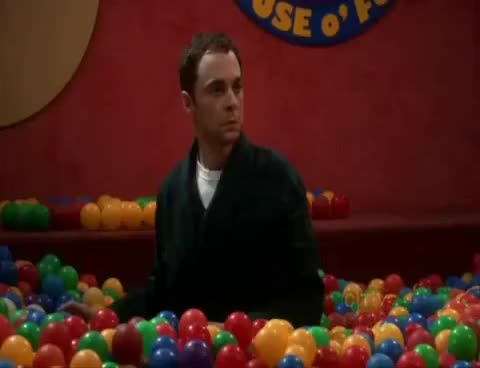 Watch and share Big Bang Theory GIFs and Ball Pit GIFs on Gfycat