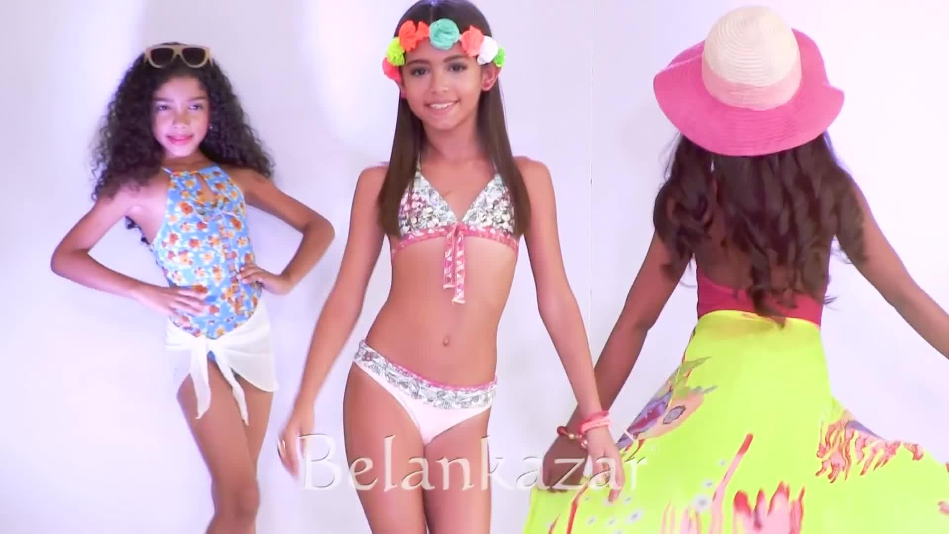 Young Little Girl Models Bikinis Depositphotos