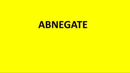 Watch abnegate meaning GIF on Gfycat. Discover more abnegate definition, abnegate definition antonym, abnegate meaning, define abnegate GIFs on Gfycat