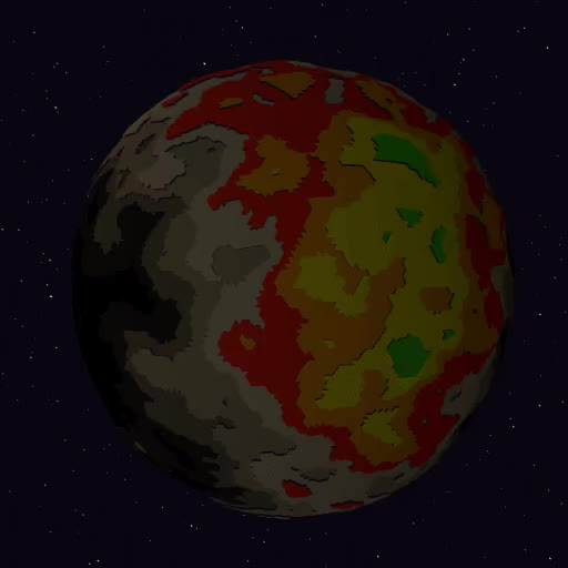 Watch A Colorful Crater Covered Moon! GIF by @katsmakesgames on Gfycat. Discover more gamedev, gaming, indiedev, planet, space GIFs on Gfycat