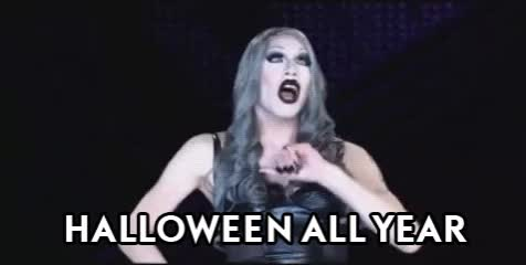 Watch this halloween GIF by The GIF Smith (@sannahparker) on Gfycat. Discover more creepy, drag queen, halloween, rupauls drag race, sharon needles, spooky, witchy, yas GIFs on Gfycat