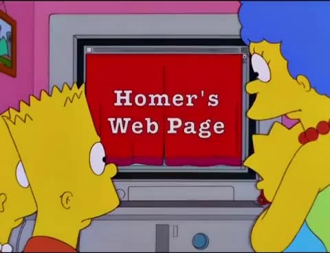 Watch and share The Simpsons - Homer's Web Page GIFs on Gfycat