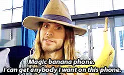 Watch He wasn't kidding GIF on Gfycat. Discover more adorable, banana phone, brothers, goofballs, jared leto, shannon leto GIFs on Gfycat