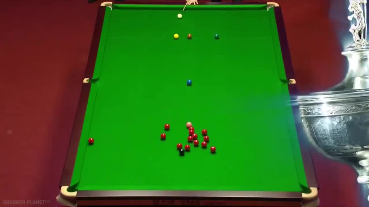 World Snooker Championship, judd trump, lucky shots, miscue, miss cue, ronnie o'sullivan, snooker, snooker fluke, snooker flukes, snooker lucky shots, red missing white GIFs
