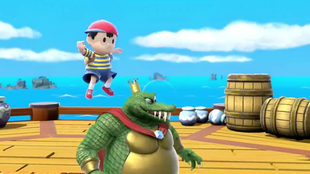 Watch Cute! GIF on Gfycat. Discover more game, games, gaming, juego, king k rool, king k rool reveal, king k rool trailer, nintendo switch, super smash bros ultimate, video game GIFs on Gfycat