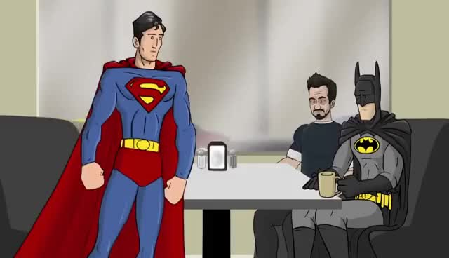 Watch and share Tony Stark GIFs and Superman GIFs on Gfycat
