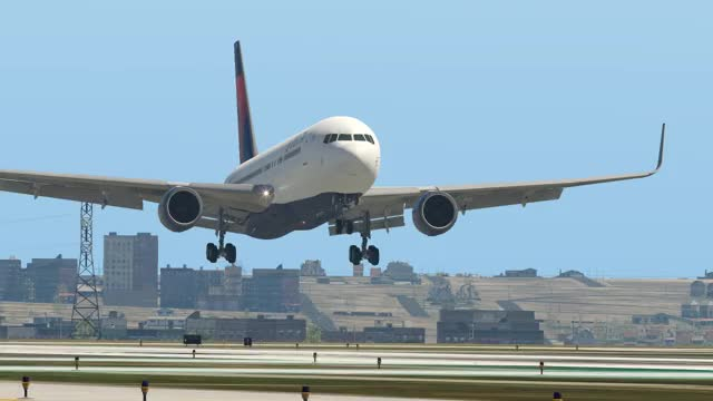 X-Plane 11: 767 through morning clouds GIF   Find, Make & Share