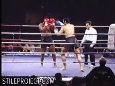 kickboxing leg break GIFs