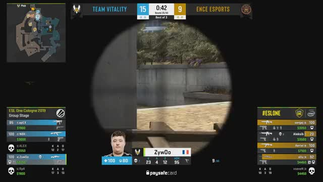ZywOo crushing ENCE's hope