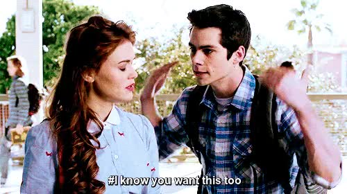 Watch STILES + LYDIA GIF on Gfycat. Discover more dob, dylan o'brien, holland roden, lydia and stiles, lydia martin, lydia x stiles, martinski, stiles, stiles and lydia, stiles stilinski, stiles x lydia, stydia, stydia au, stydia fanfiction, teen wolf, teenwolf, tw, tw s3 GIFs on Gfycat