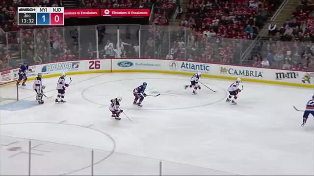Watch Hall extends his point streak with a tip pass to Palmieri who beats Halak with a snipe GIF by Beep Boop (@hockeyrobotthing) on Gfycat. Discover more hockey GIFs on Gfycat
