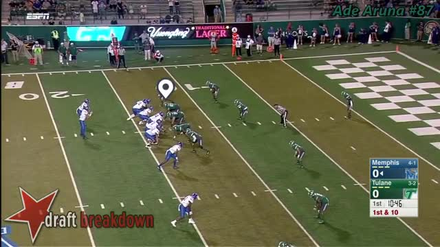 Watch Ade Aruna (Tulane DE) vs Memphis 2016 GIF by @i_milk on Gfycat. Discover more related GIFs on Gfycat