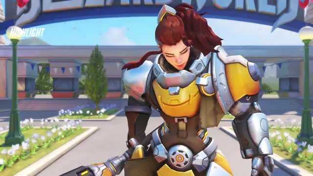 Watch and share Overwatch GIFs and Brigitte GIFs by Mihai-Ionuţ Petre on Gfycat