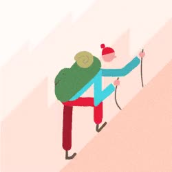 Watch and share Gif Illustration Animation Hike GIFs on Gfycat