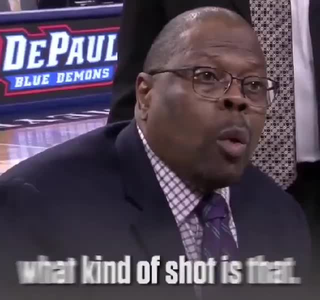 Watch What kind of shot is that?! GIF by Cindy046  (@cindy046) on Gfycat. Discover more Nba, Patrick Ewing, archery, bad at sports, bad shot, basketball, bricks, buckets, cant shoot, celebrity, foul, freethrow, golf, gunshots, hockey, hoops, layup, missed, shot  your shot GIFs on Gfycat