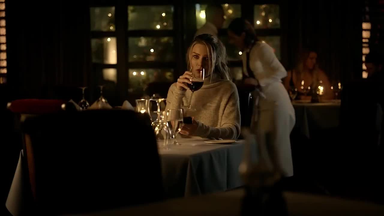 GIF Brewery, chloe, dinner, gif brewery, lucifer, restaurant, waiting, wine, Waiting for you GIFs