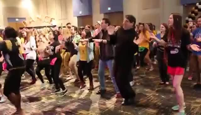 Watch and share Chancellor Zeppos Takes On The Morale Dance GIFs on Gfycat