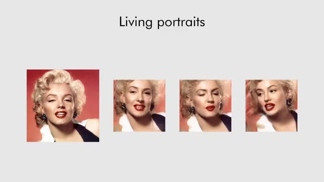 Watch Few-Shot Adversarial Learning of Realistic Neural Talking Head Models | This GAN can animate any face GIF by @yuliban on Gfycat. Discover more albert einstein, celebs, deep learning, deepfakes, gans, generative adversarial networks, image synthesis, marilyn monroe, media synthesis, mona lisa, video synthesis GIFs on Gfycat