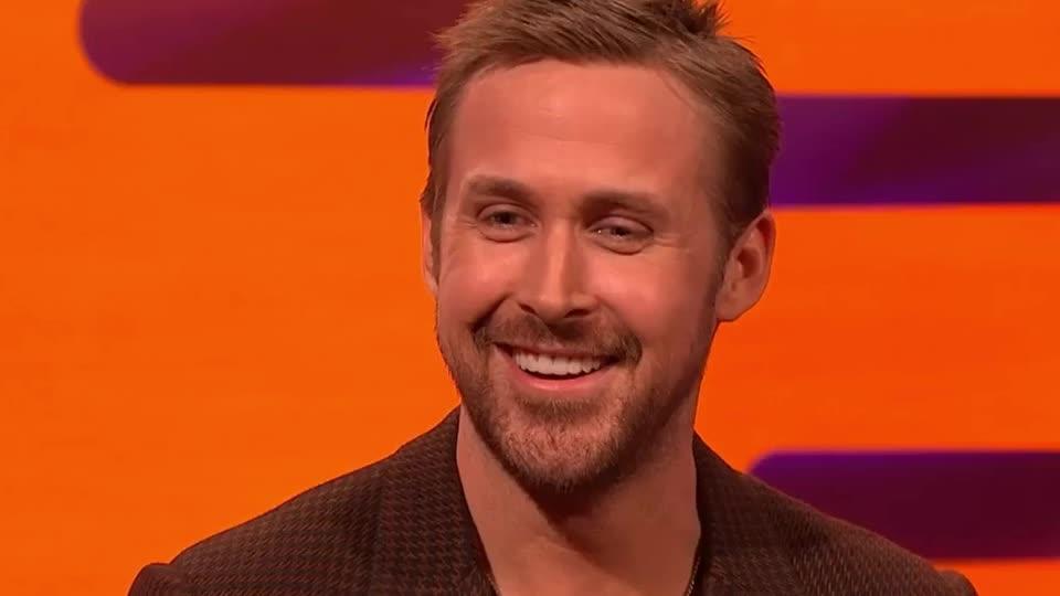 Ryan Gosling, cute, funny, gosling, graham, hilarious, hunk, joke, joking, laugh, lol, loud, norton, oscar, out, ryan, show, smile, Ryan Gosling - LOL GIFs