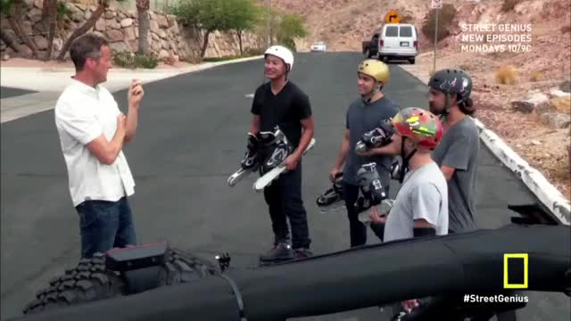 Watch Caught this wacky rollerblade race on a NatGeo show. 12 vs 8 vs 4 vs 2 wheels. Anyone know these guys? (reddit) GIF on Gfycat. Discover more rollerblading GIFs on Gfycat