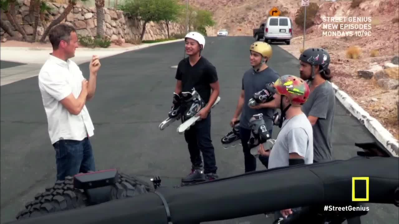 rollerblading, Caught this wacky rollerblade race on a NatGeo show. 12 vs 8 vs 4 vs 2 wheels. Anyone know these guys? (reddit) GIFs