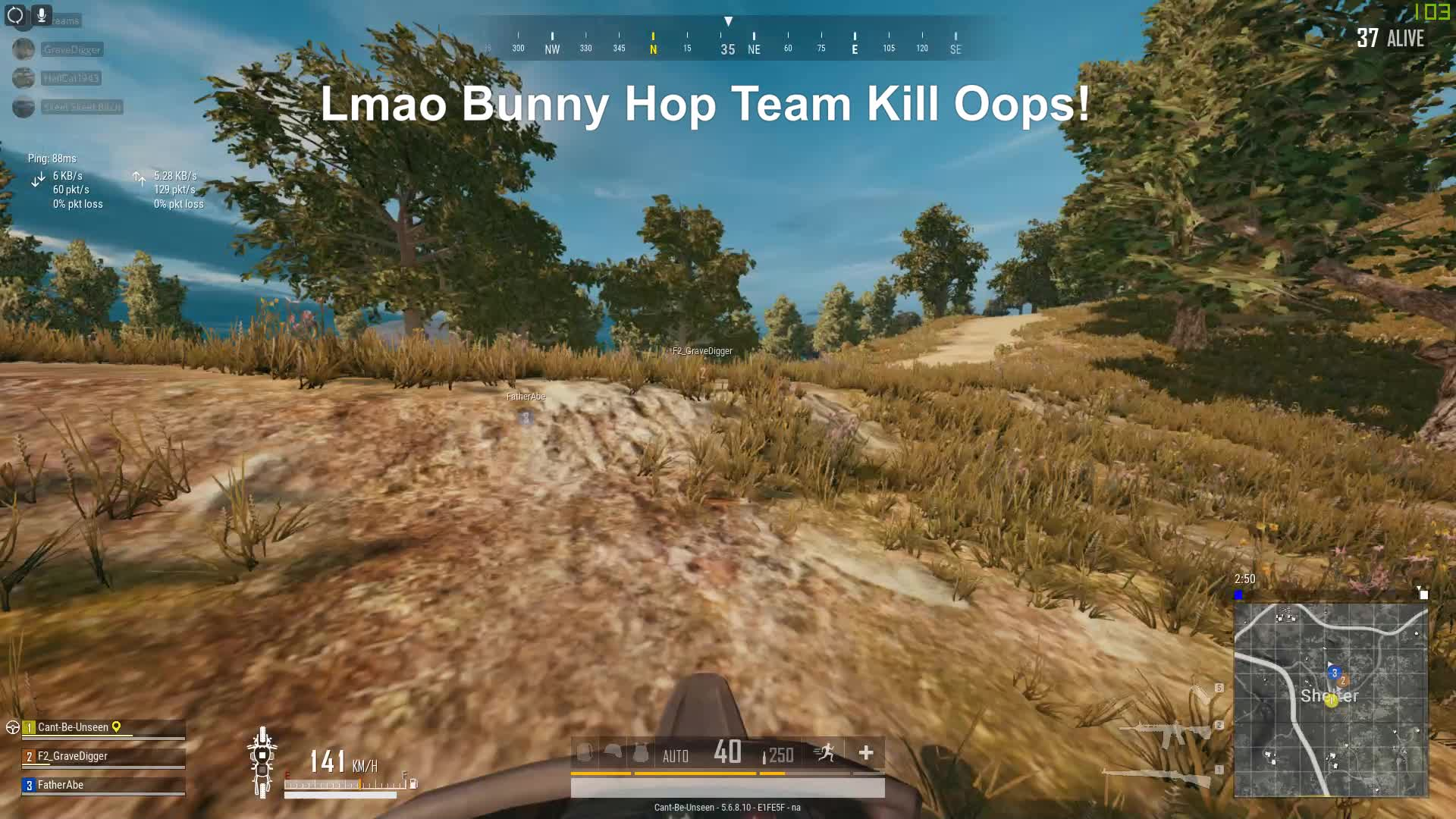 pubattlegrounds, pubg, Bunny Hopping Team Kill Oopsies ahaha GIFs