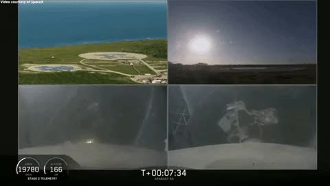 Watch and share Falcon Heavy Side Boosters Landing In Sync GIFs on Gfycat