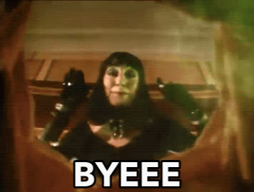 1990, anjelica huston, bye, see ya, the witches, Anjelica Huston - Byeee GIFs