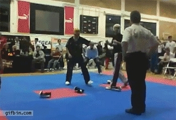 reverse best friends at kickboxing final GIFs