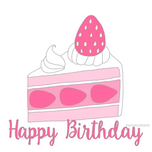 Watch and share Happy Birthday Cake Slices Illustration Animation Greeting Card GIFs on Gfycat