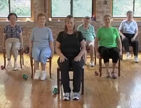 Stronger Seniors Strength - Chair Aerobics DVD Video Elderly Exercise Chair Exercise GIF  sc 1 st  Gfycat & Stronger Seniors Strength - Chair Aerobics DVD Video Elderly ...
