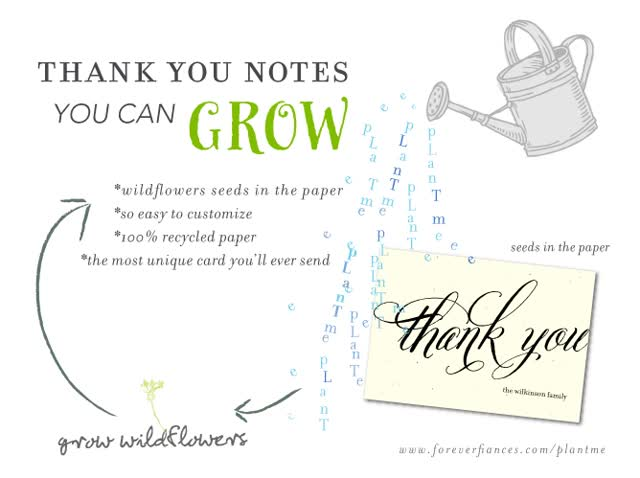 Watch and share Plantable Thank You Cards | 100% Recycled | Seeds In The Paper GIFs on Gfycat