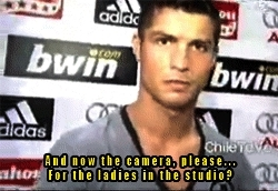 cr7, cr7 funny, cr7 gif, cris, cristiano ronaldo, football, football gif, funny, funny football, gif, halamadrid, interviewer, madrid, mixed zone, post game, real madrid, reporter, rmcf, santiago bernabeu, spain, sports, CR7  GIFs