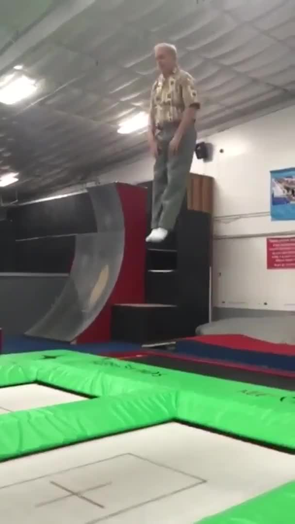 Watch and share Old Man Still Has Some Trampoline Skills GIFs by tothetenthpower on Gfycat