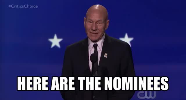 Watch and share Patrick Stewart GIFs and Critics Choice GIFs by Reactions on Gfycat