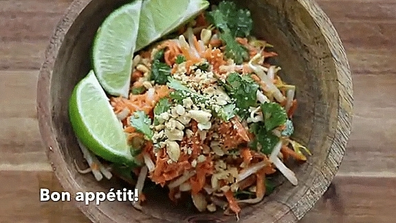 GifRecipes, vegangifrecipes, Thai Salad GIFs