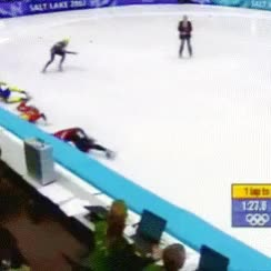 Watch and share Steven Bradbury GIFs and Mlh GIFs on Gfycat