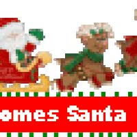 Watch and share Here Comes Santa Claus - Blinkie animated stickers on Gfycat