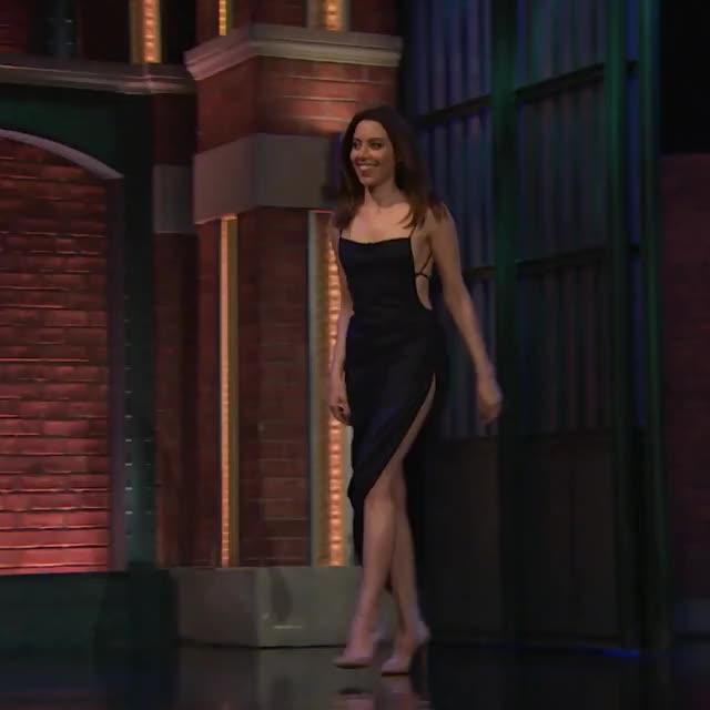 Watch and share Aubrey Plaza GIFs and Seth Meyers GIFs on Gfycat