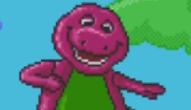 Watch and share Barney The Dinosaur Games - SpaceHamster GIFs on Gfycat