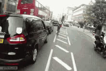 Cyclist Gets Squeezed Between Bus And Truck GIFs